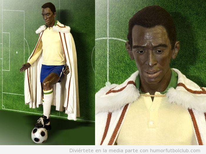 Estatua de Pelé en el museo de cera de Madrid