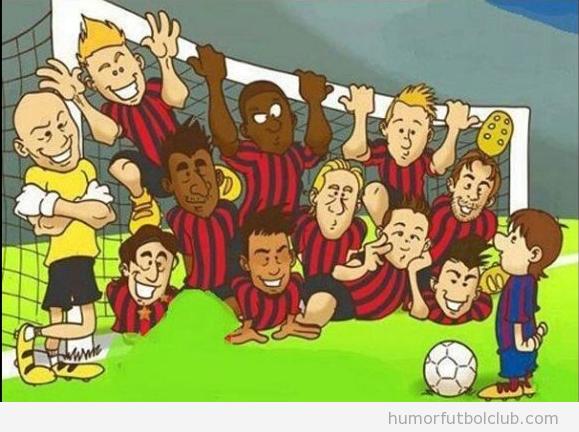 Viñetas divertidas de la táctica del Ac Milan ante el Barça