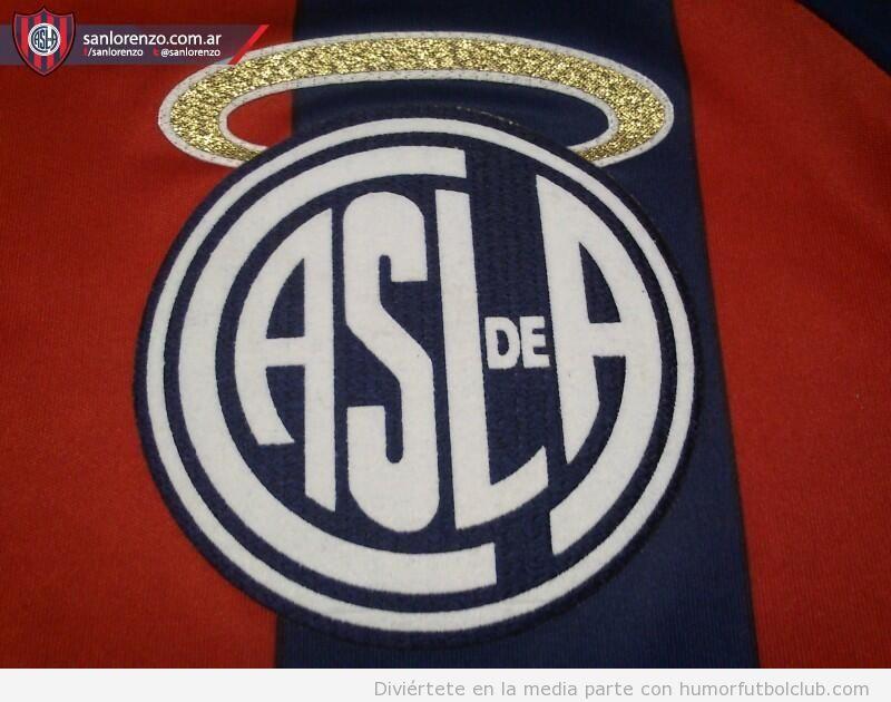 Escudo de San Lorenzo con aureola santo