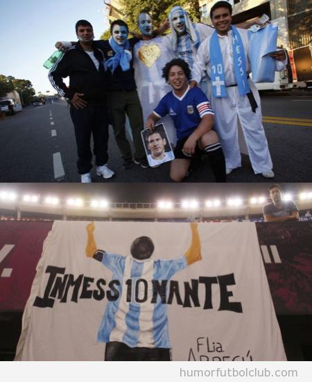 Pancarta graciosa Messi, Inmessionante