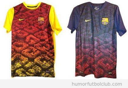 Camisetas de entrenamiento del Barça, temporada 2013-2014