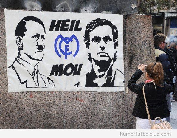 Graffiti en el Bernabeu, Hitler y Mourinho