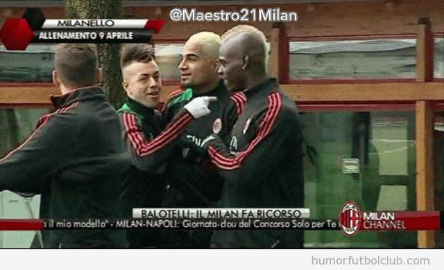 Mario Balotelli, cresta rubia, look abril 13