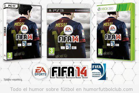 Portada del videojuego FIFA 14 con Messi