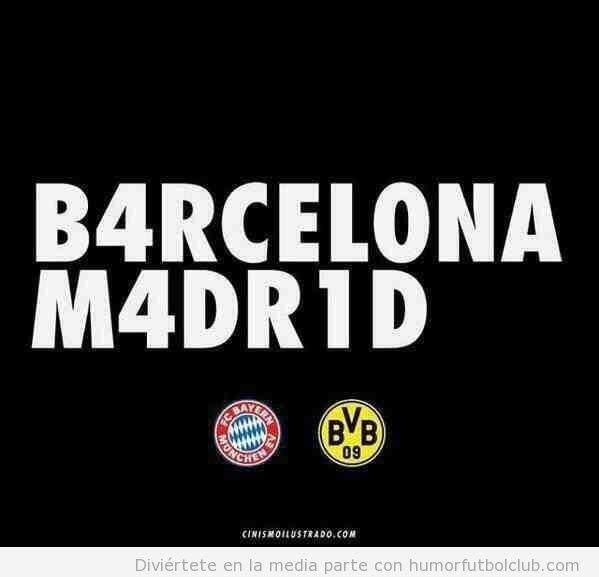 Imagen que resume la semana de Champions League