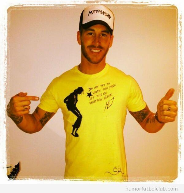 Foto de Sergio Ramos en Instagram con camiseta de Michael Jackson