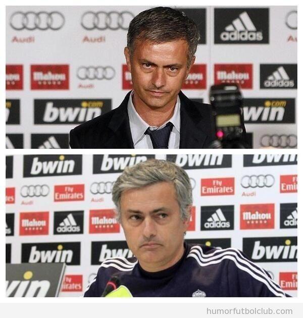 Diferencias en apariencia física de Mourinho tras su paso por el Madrid