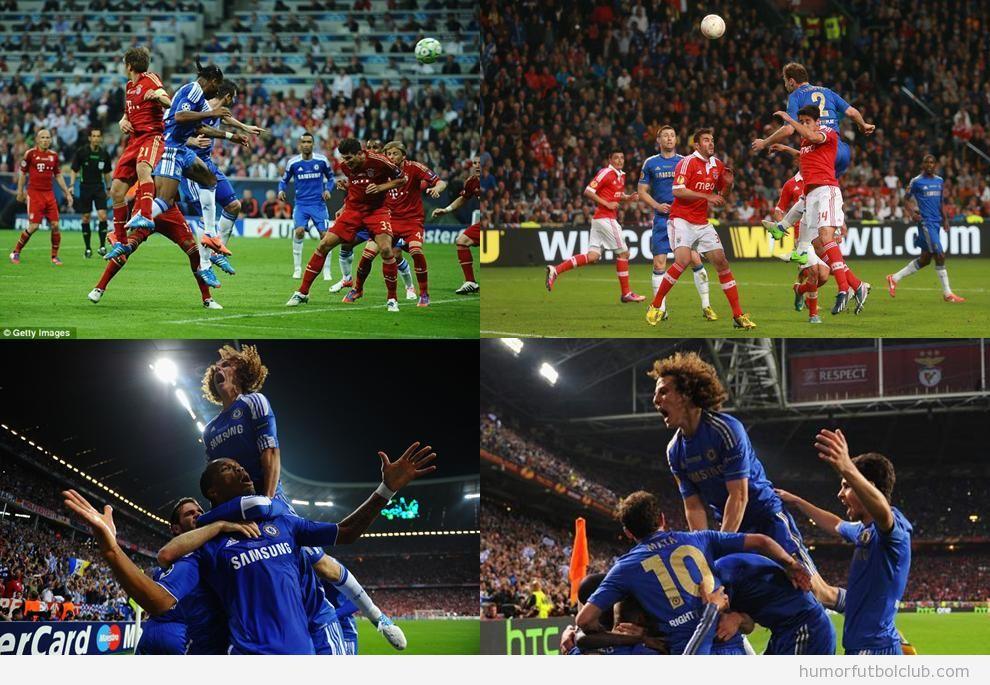Fotos de la celebración de David Luiz de la Europa League