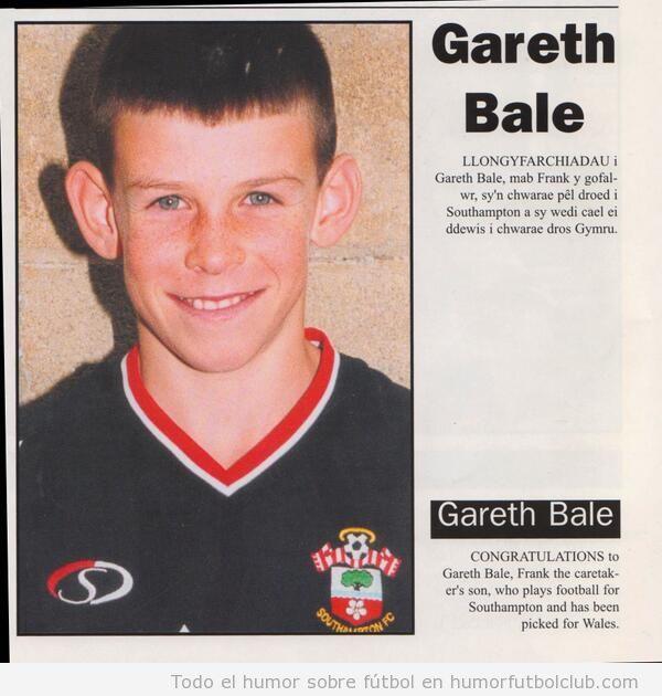 Gareth Bale de niño con orejas grandes