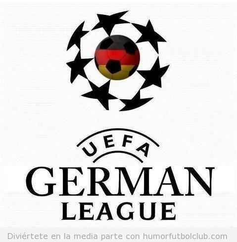 Logo de la Champions League con bandera de Alemania