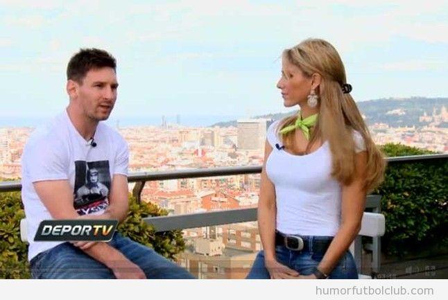 Entrevista de la periodista mexicana Inés Sainz a Messi en Barcelona