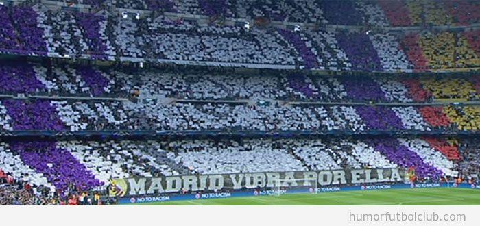 Tifo del Real Madrid antes del partido de Champions vs Borussia Dortmund