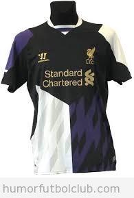Segunda equipación del Liverpool 2013-2014