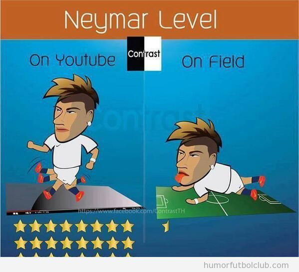 Viñea graciosa, diferencias de Neymar en youtube vs vida real