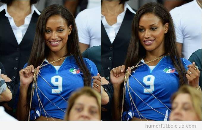 Imagen de Fanny Neguesha con la camiseta azzurri, Italia 9