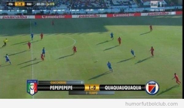 Foto graciosa, Italia Haiti, televisión Rai, pepe vs quaquaqua