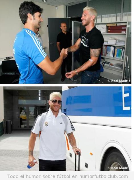 Nuevo look de Sergio Ramos con el pelo teñido de rubio