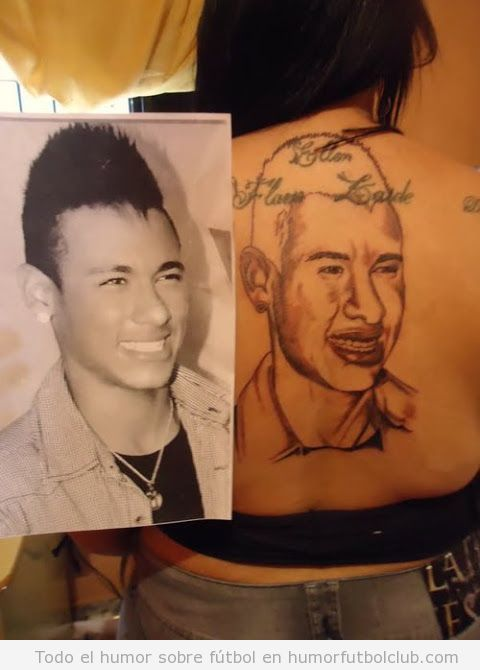 Tatuaje feo Neymar
