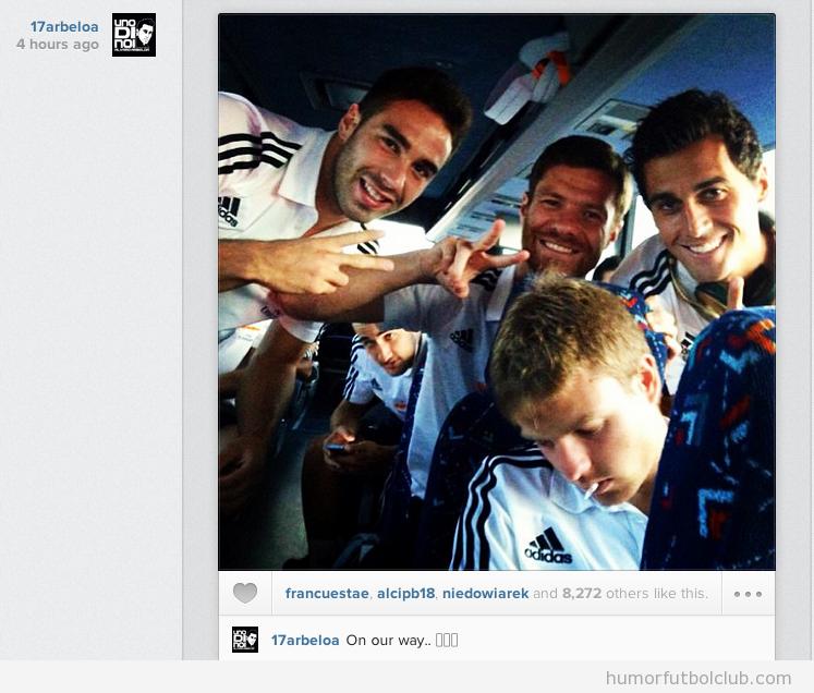 Arbeola trollea a Illaramendi, dormido en el autobús del Real Madrid