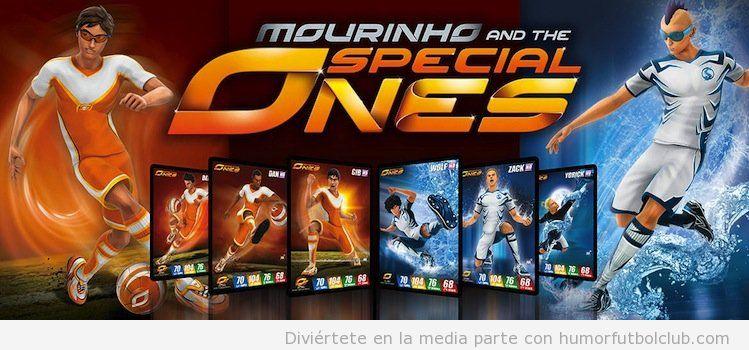 Juego cartas rol de Mourinho and the special ones