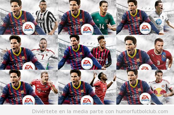 Las diferentes portadas del FIFA 14 en todos los países