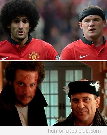 Parecido razonable y gracioso de Fellaini y Rooney con los de Solo en Casa