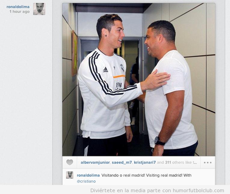 Foto de Cristiano Ronaldo y Ronaldo Nazario