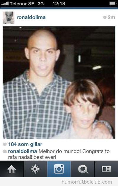 Foto curiosa de un Ronaldo joven con Nadal de niño