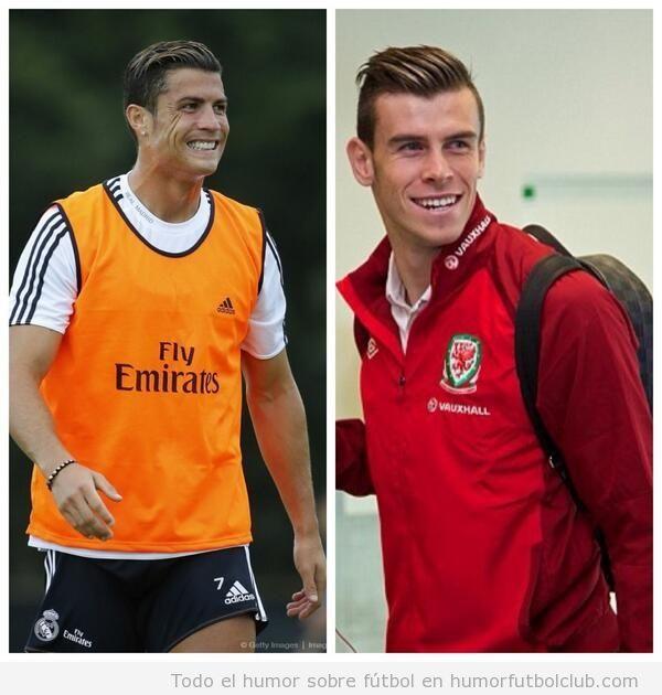 Parecido razonable entre Gareth Bale y  Ronaldo