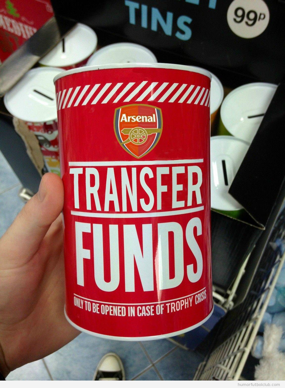 Botes de propinas del Arsenal para fichajes