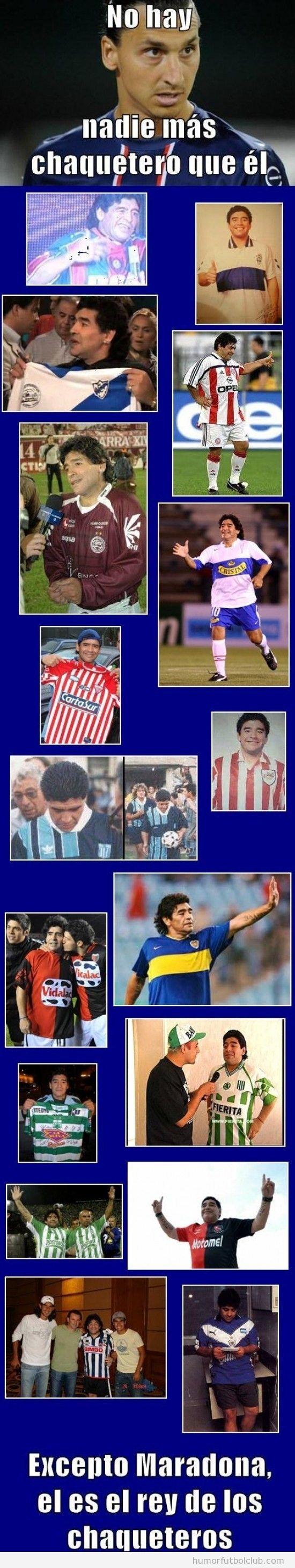 Meme fútbol, Ibrahimovic y Maradona chaqueteros