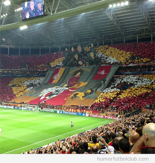 Tifo de la hinchada del Galatasaray vs Real Madrid