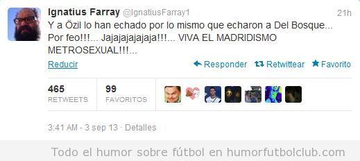 Tweet gracioso sobre el Real Madrid y los feos