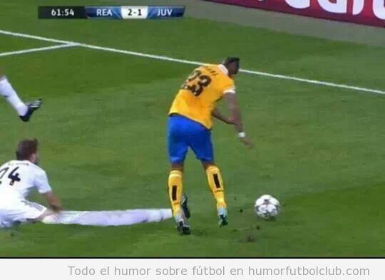 Fotomontaje gracioso falta Illarramendi a Arturo Vidal en el Real Madrid Juventus