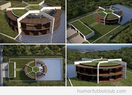 La nueva casa de Messi con forma de balón de fútbol