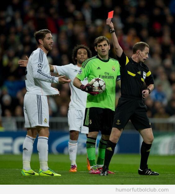 Tarjeta Roja Sergio Ramos Real Madris vs Galatasaray