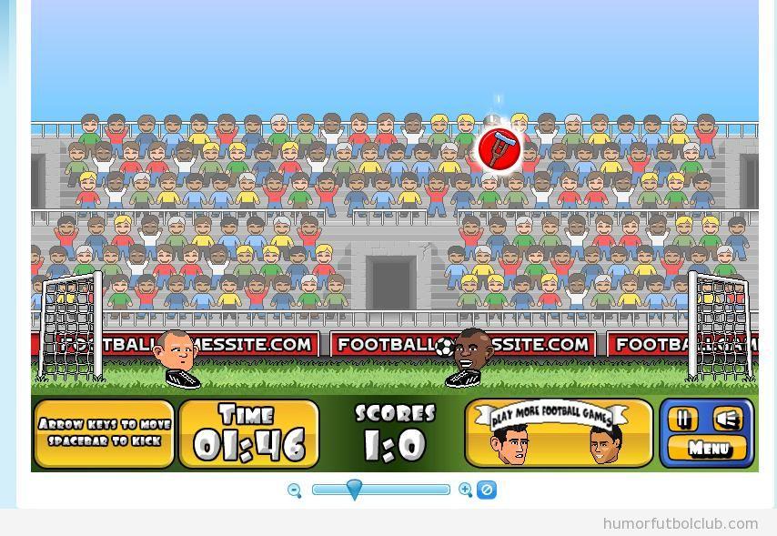 Juego fútbol cabeza grande