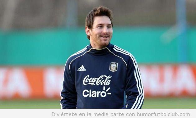 Foto curiosa de Messi con la barba roja