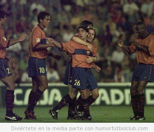 Primer gol Xavi Barça hace 15 años