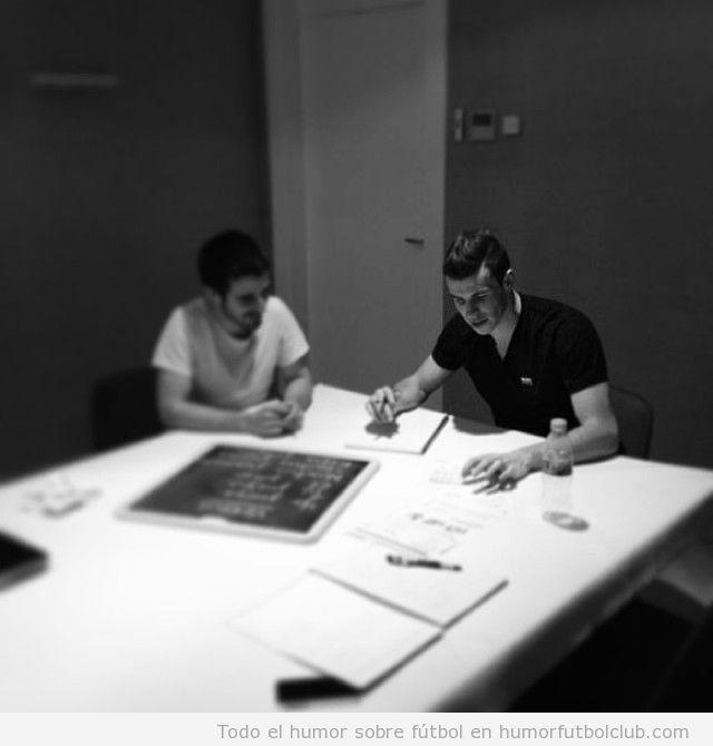 Foto de Gareth Bale en clases de español