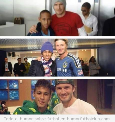 Fotos de Neymar y Beckham a través de los años