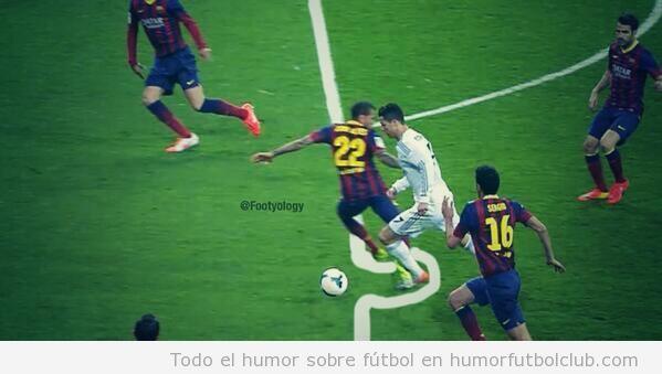 Photoshop penalty Cristiano Ronaldo en el Real Madrisd vs Barça