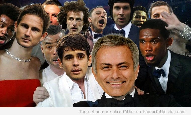 Fotomontaje gracioso Photoshop Selfie Oscar Mourinho