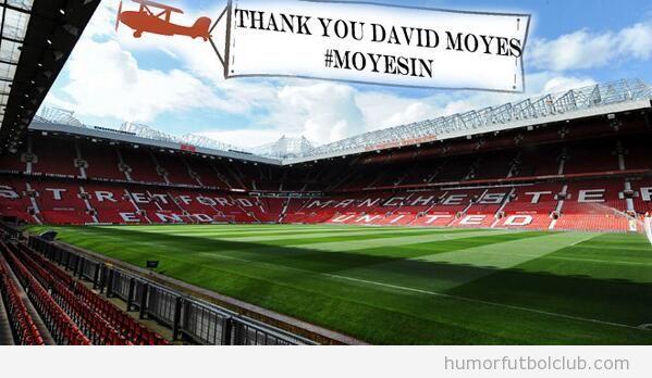 Tweets avionetas mensajes a favor de David Moyes 3