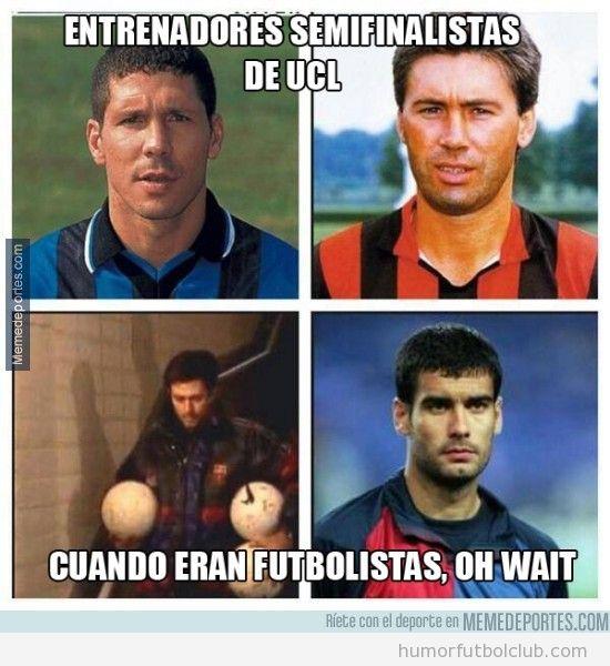 Ancelotti, Simeone, Mourinho y Guardiola de jóvenes futbolistas