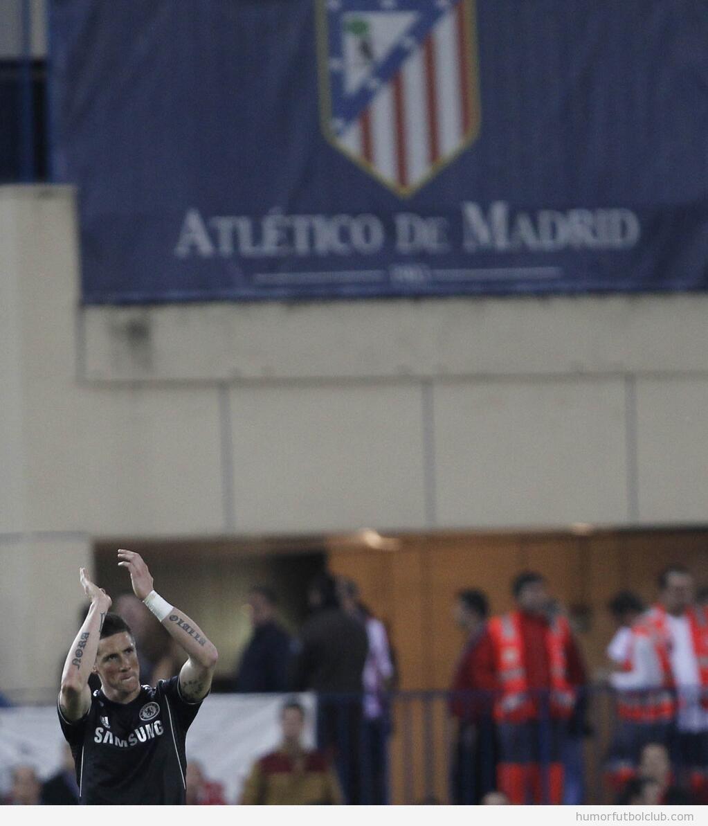 Torres saluda al Calderón en el Atlético de Madrid - Chelsea