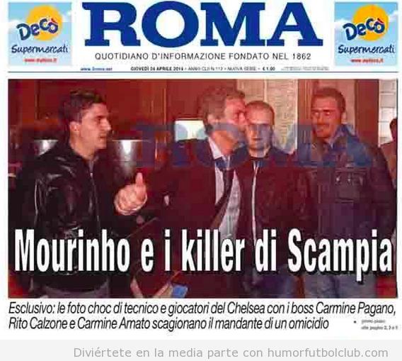 Foto Mourinho mafia italiana, juicio por homicidio