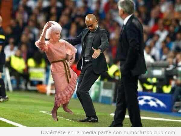 Fotomontaje de la Duquesa de Alba y Guardiola bailando flamenco