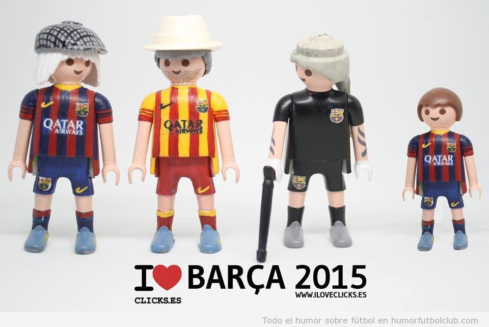 I Love Clicks, plantilla del Barça en 2014-2015