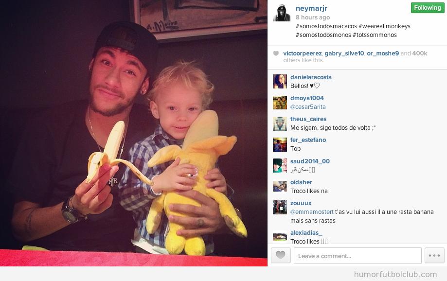Mensajes de apoyo en Instagrma tars el abuso racista a Dani Alves, Neymar,